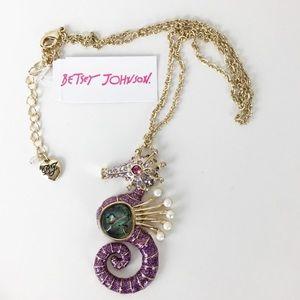 NWT Betsey Johnson Seahorse Necklace